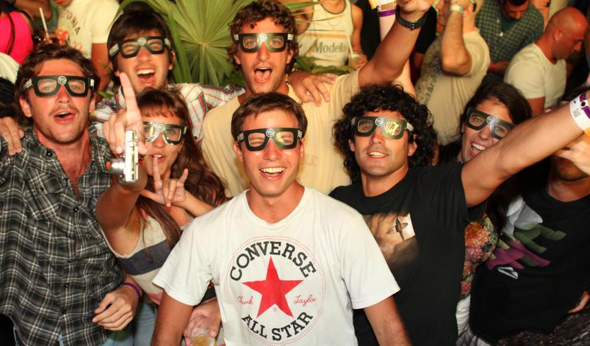 a group of people wearing 3d glasses