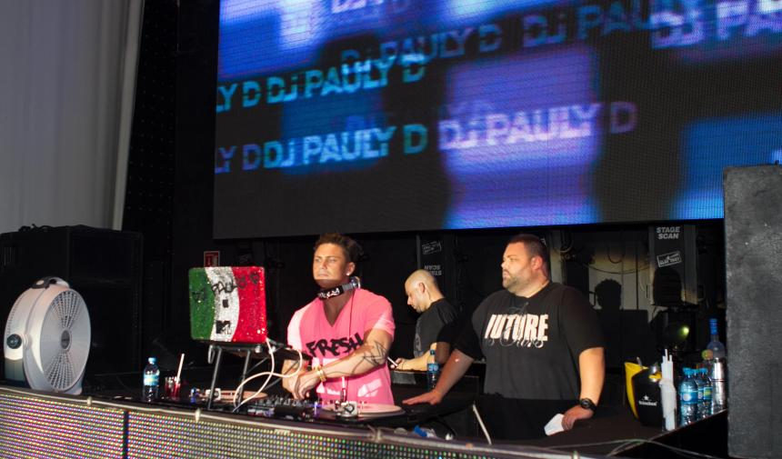 DJ Pauly D in Cancun, Mexico as part of a GradCity graduation trip